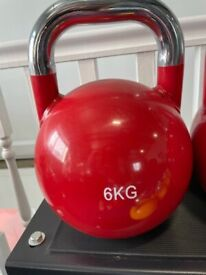 2 x 6kg Competition Kettlebells NEW Gym Training Fitness Strength
