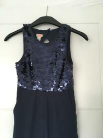 Monsoon navy girls jumpsuit size 8 years