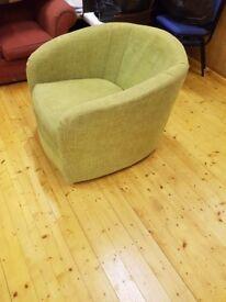 Green swivel chair