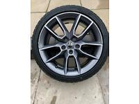 Skoda Octavia Vrs Rim and tyre and front and rear mud flaps