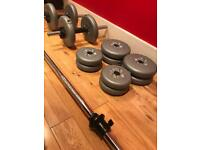 York barbell and dumbbell set