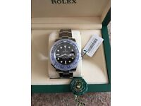 Rolex GMT Master II Black/Blue New with Seals