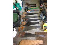Carpentry Saws (Lot of 10) - Estate Sale