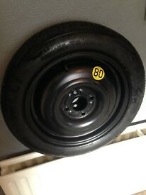 space saver tyre and wheel pireei, T125/80R15 as new ..
