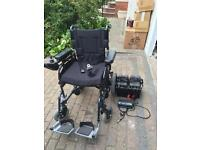 Electric Portable Wheelchair, Folds For Transport, Very Lightly Used, Cost over £800 Free Delivery