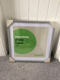 8 large grey photo frames