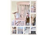 Rocking chair Pink with pretty stencilling