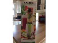 Salter blender never used still in box comes with 2 beakers