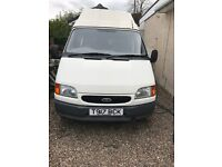 Ford transit, turned into a camper van, 80000 miles runs well but has some rust at the wheels
