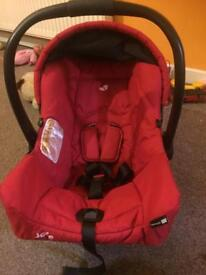 Joie car seat from birth