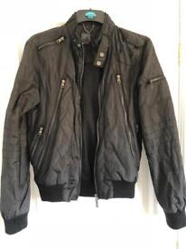 Black soviet bomber jacket small