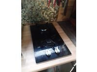 2 Ring LPG Gas Hob - Tempered Glass - As New