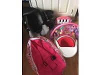 Baby Bundle Girl bumbo, car seat, toys and more..