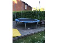 Large Trampoline: No Nets: Torn material: Free to anyone to collect