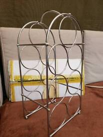 Chrome Wine rack from the cotswold company New
