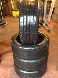 4x 225/45/19 Dunlops like brand new
