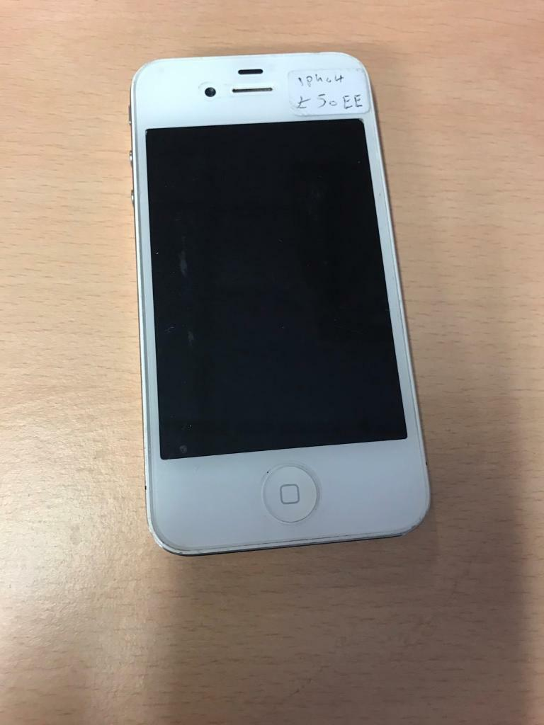 IPhone 4 white ee tmobile virgin Asda talkhomein Ward End, West MidlandsGumtree - iPhone 4 white EE T Mobile Virgin Asda talkhome. In good condition. Comes with cable only. £50 no offers