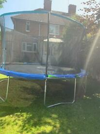 SALE! 10FT Trampoline with Safety Net Enclosure, Ladder and