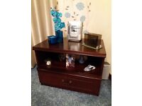 Television Cabinet with Drawer in Mahogany Finish