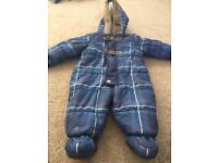 Nutmeg 3-6 Months boys baby snow suit / pram suit