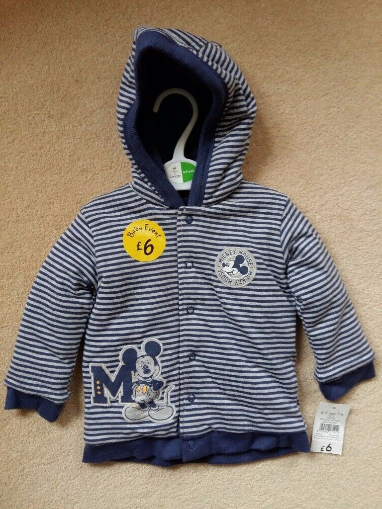 Baby boy Mickey Mouse jacket and dungaree outfit 6-9 months
