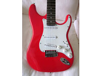 RED SQUIRE STRAT / STRATOCASTER ELECTRIC GUITAR