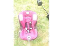 Baby's pink car seat