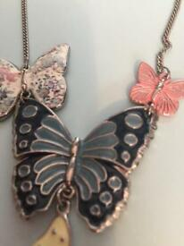 Butterfly necklace great for summer dress