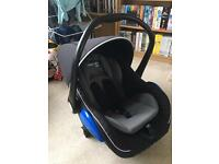 Mee-Go Car seat, ISO-Fix base and car mirror.
