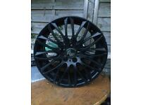 BMW WHEEL RIMS TYRES ALLOY ONLY ONE 20 INCH £100 ONO