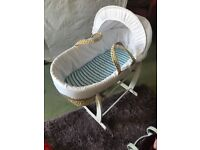 Moses basket with Clair de lune stand