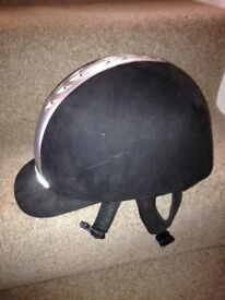 Horse riding helmet skull hat