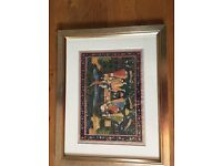 Professionally framed Indian Art Tapestry