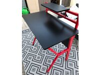 Rogue Gaming Desk Black And Red By Lloyd Pascal (Like New Condition) Rrp £130
