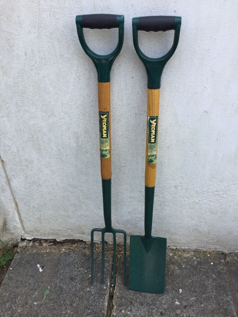 YEOMANS BOARDER FORK AND BORDER SPADE
