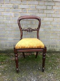 VICTORIAN BALLON CHAIR FREE DELIVERY BEDROOM ,DESK,dressingtable CHAIR