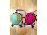 X2 Littlelife backpacks with reins