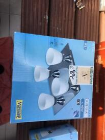 Bathroom or kitchen ceiling lights - boxed and unused. Halogen