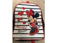 Blue & Red Minnie Mouse rucksack-excellent condition