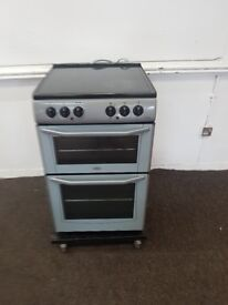 55 Cm Ceramic Electric Cooker with Double Oven