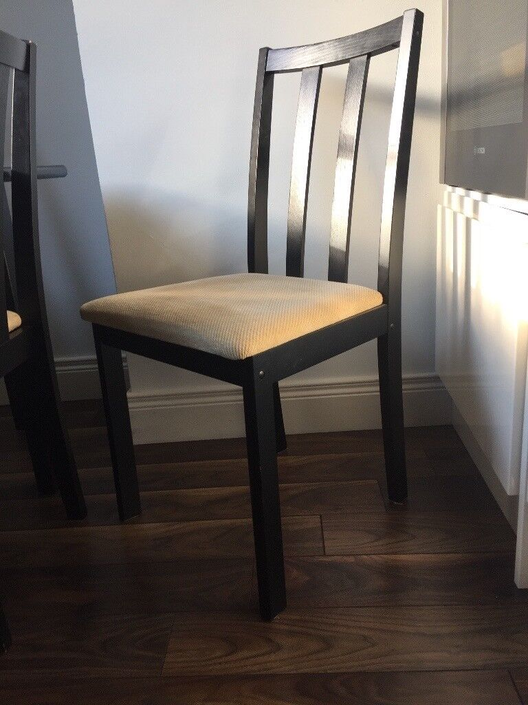 Free On Collection Dining Chairs Black And Cream In
