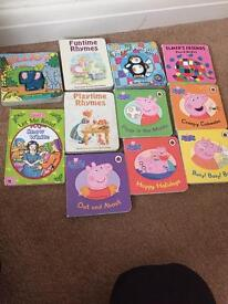 Toddler books - peppa pig collection and rhymes books