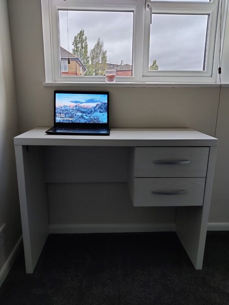 Good Condition Small White Wood Desk And Drawer Perfect For Laptops Wfh In Acton London Gumtree