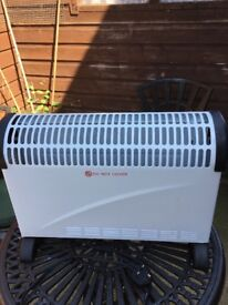 Two electric convector heaters