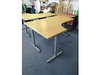 Large IKEA L-shaped Adjustable Office Desks