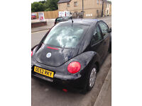 VW BEETLE DIESEL 2003 *FULL SERVICE HISTORY* BLACK LEATHER-SUNROOF-A/C EX CON