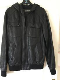 Black leather look jacket