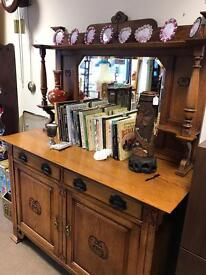 Arts and crafts oak sideboard