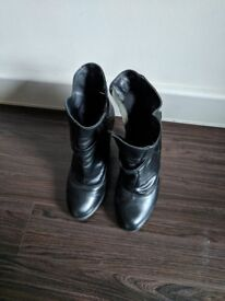 Boots from leather