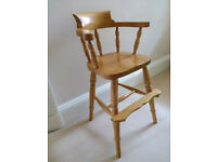 Wooden toddler's dining chair